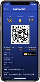 Mobile Boarding Pass | Southwest Airlines