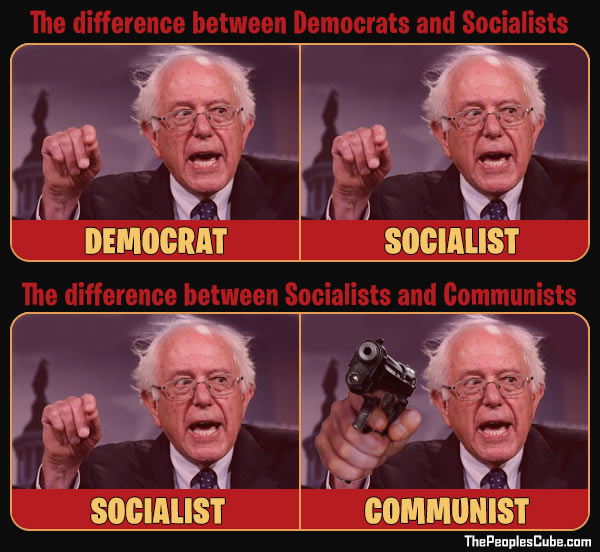Difference between Democrats, Socialists, and Communists