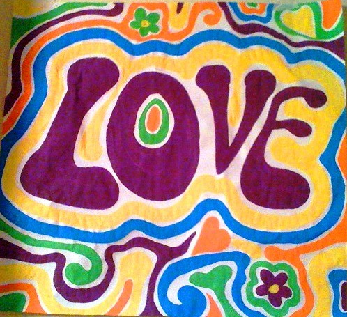 hippie love | a piece of a poster done for an hippie party ...