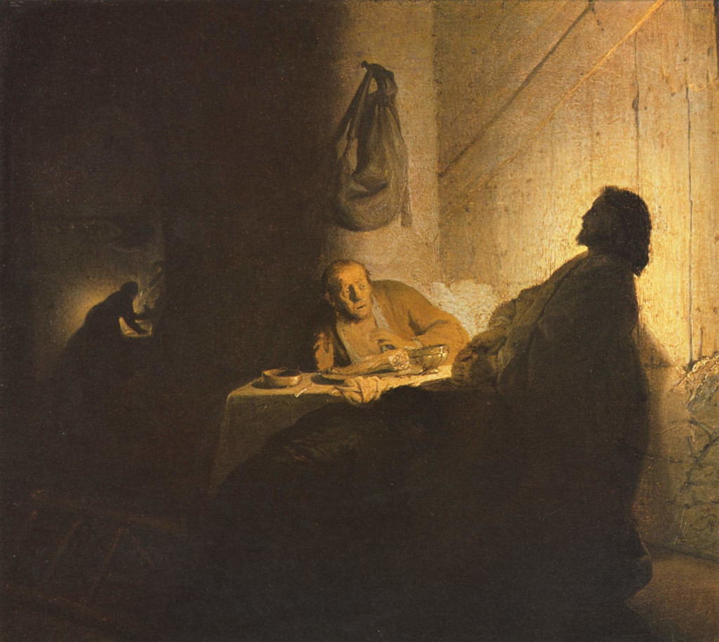 Rembrandts Jesus in Emmaus